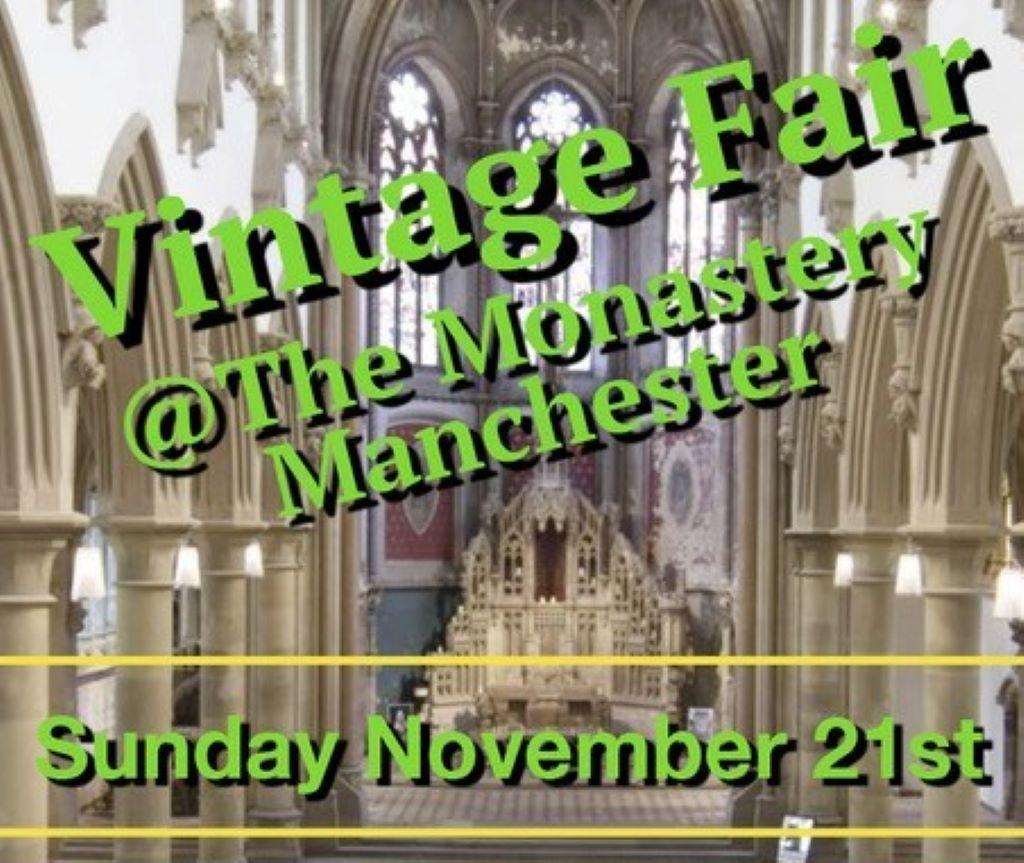 Vintage fair at Manchester Monastery
